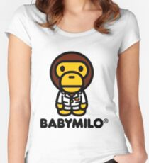 Baby Milo a Bathing Ape Women's Fitted Scoop T-Shirt