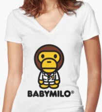 Baby Milo a Bathing Ape Women's Fitted V-Neck T-Shirt