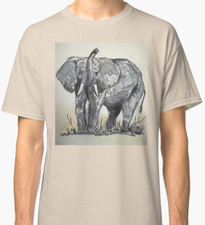 Lodge décor - African Elephant sketch Classic T-Shirt