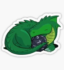 D20 Green Dragon Sticker