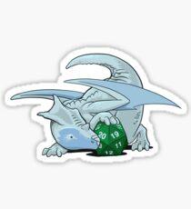 Pegatina D20 White Dragon