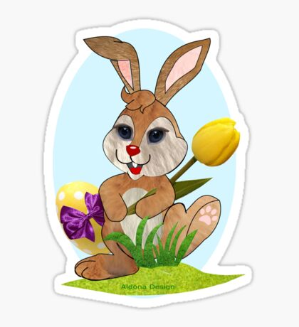 Easter Bunny  (3773 Views) Sticker
