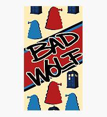 Bad Wolf Pattern Photographic Print