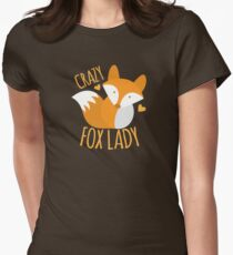 Crazy Fox lady Womens Fitted T-Shirt
