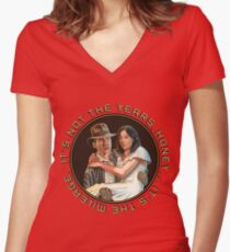 Indiana Jones - It's Not the Years, It's the Mileage. Women's Fitted V-Neck T-Shirt