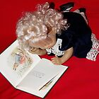 Dolly Reading Peter Rabbit by AnnDixon