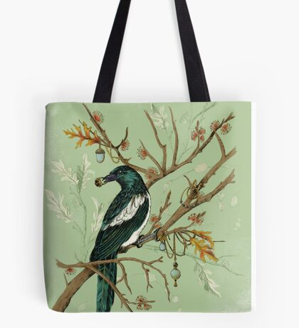 Magpie Birds Tote Bag