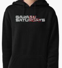 Garage Saturdays white sketch and sun Pullover Hoodie