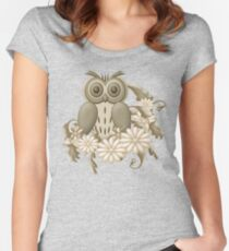 Mr Owl Women's Fitted Scoop T-Shirt