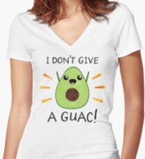 I don't give a guac! Women's Fitted V-Neck T-Shirt