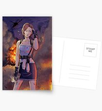 Resident Evil - Jill Valentine Tribut Postkarten
