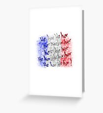 french national anthem Greeting Card