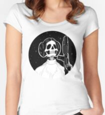 Leia (Stack's Skull Sunday) Fitted Scoop T-Shirt