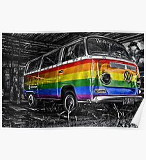 VW van GAY ride Poster