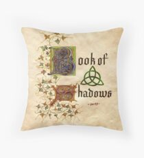 Charmed- book of shadows Throw Pillow