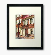 Philadelphia PA Brownstone Framed Print