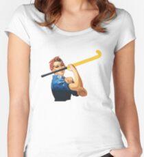 Wir können es schaffen! Feldhockey! Tailliertes Rundhals-Shirt