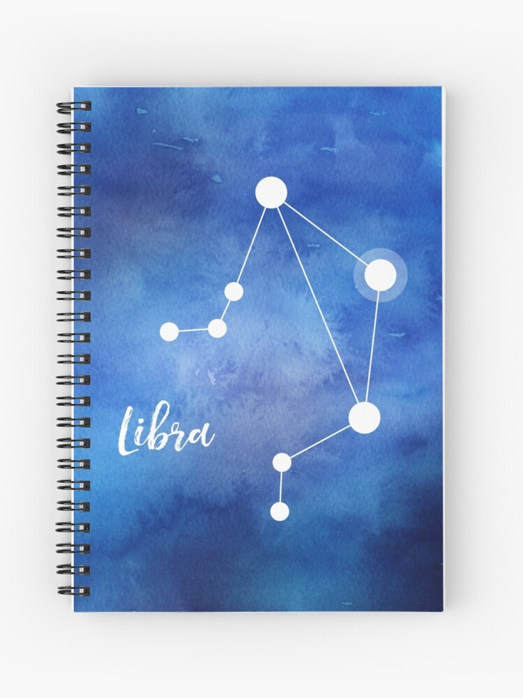 Libra Zodiac Sign, September 23 - October 22   Spiral Notebook