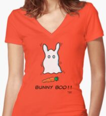Bunny Boo!! Women's Fitted V-Neck T-Shirt