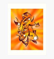 Abstract digital art - Abugila V4 Art Print