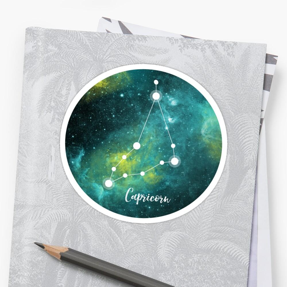 Steinbock Sternzeichen, 22. Dezember - 19. Januar Sticker