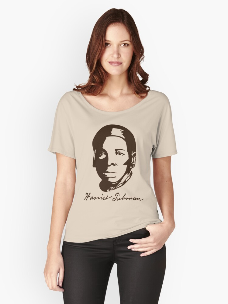 Harriet Tubman's T-shirt with Real Signature Women's Relaxed Fit T-Shirt Front