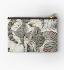 cats /rose and gold Studio Pouch