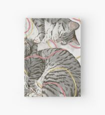 cats /rose and gold Hardcover Journal