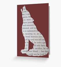 King's Cross Wolf Greeting Card