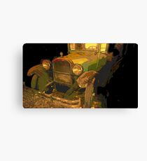 Classic Lines from vintage automobiles Canvas Print