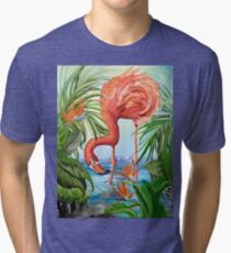 Flamingo Beach Revisited Tri-blend T-Shirt