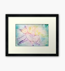 Cielo and I went out for walk Framed Print