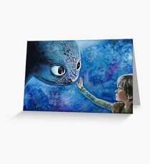 Toothless in Watercolour Greeting Card