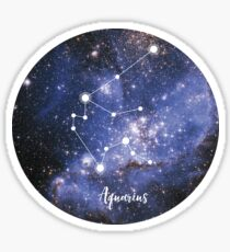 Aquarius Zodiac Sign, January 20 - February 18 Sticker