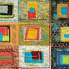 """Lilly Geometric Textile Art Series """"Loose Ends, Six"""" by Steve Chambers"""