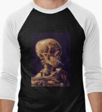 Vincent Van Gogh's 'Skull with a Burning Cigarette'  Baseball ¾ Sleeve T-Shirt