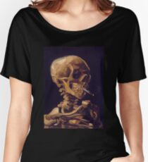 Vincent Van Gogh's 'Skull with a Burning Cigarette'  Women's Relaxed Fit T-Shirt