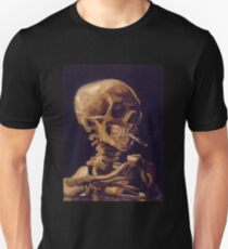 Vincent Van Gogh's 'Skull with a Burning Cigarette'  Unisex T-Shirt