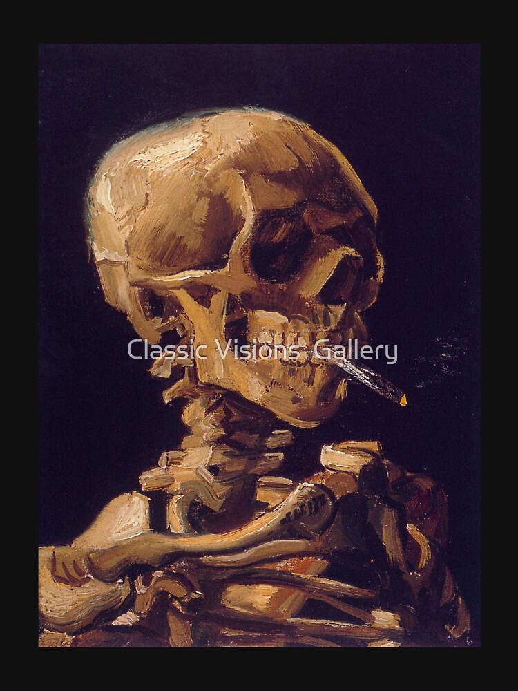 """""""Cráneo con un cigarrillo encendido"""" de Vincent Van Gogh de RozAbellera"""
