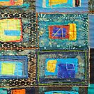 """Lilly Geometric Textile Art Series """"Loose Ends, Three"""" by Steve Chambers"""