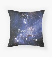 Pisces Zodiac Sign, February 19 - March 20 Throw Pillow