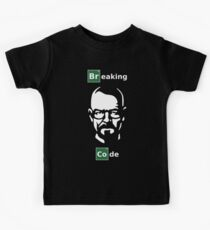 Breaking Code - White/Green on Black Parody Design for Programmers Kids Tee