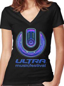 ULTRA MUSIC FESTIVAL Women's Fitted V-Neck T-Shirt