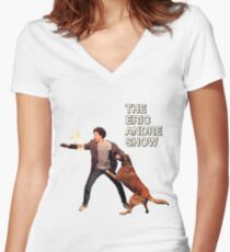 The Eric Andre Show Women's Fitted V-Neck T-Shirt