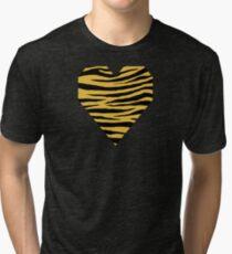 0407 Meat Brown Tiger Tri-blend T-Shirt