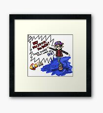 Marty McSquid Framed Print