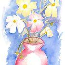 Cosmos in Vase by Jennifer Mosher