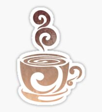 Watercolor Coffee Sticker