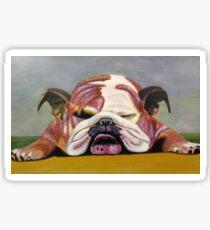 Sleeping Bulldog Sticker