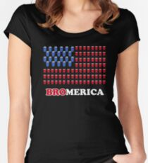 BroMerica Women's Fitted Scoop T-Shirt